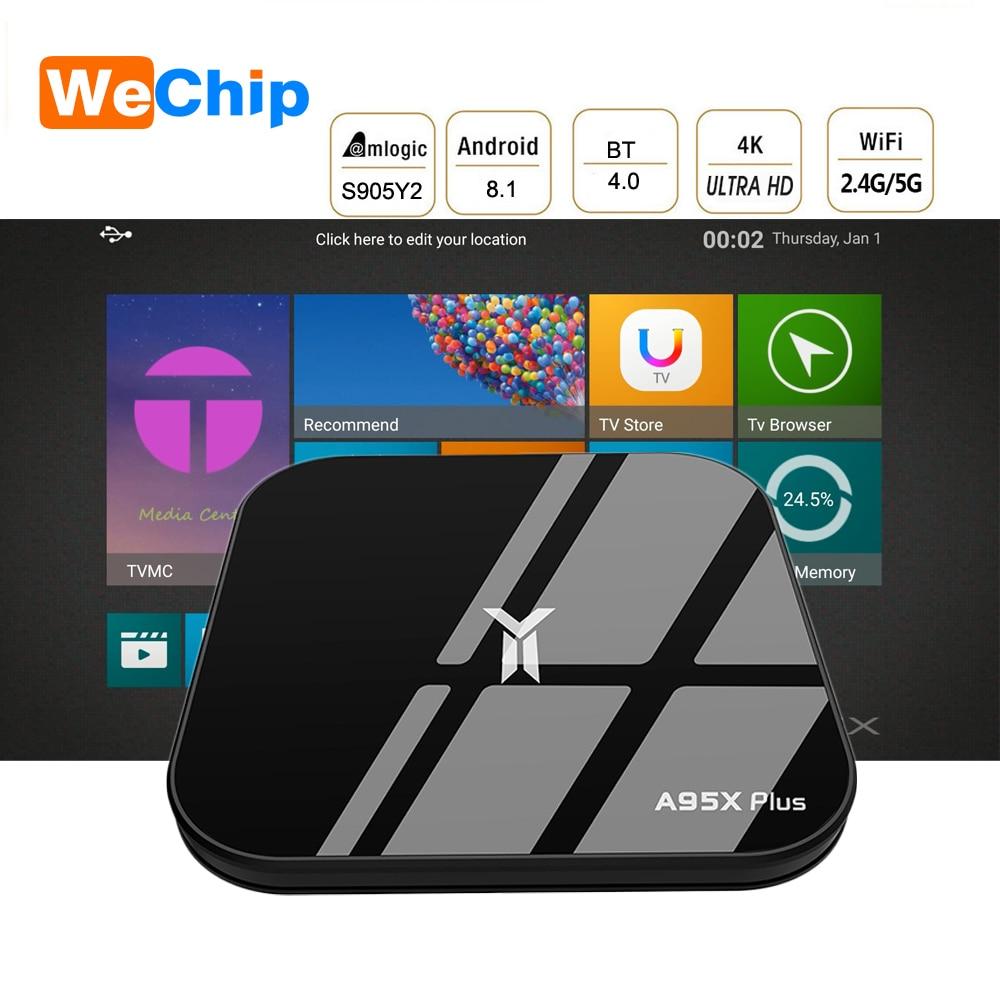 Wechip A95X Plus Android 8.1 Smart TV Box 4G+32G LPDDR4 Amlogic S905Y2 2.4G+5G Wifi BT 4.2 Media Player 4k HD Set Top Box PK X96Wechip A95X Plus Android 8.1 Smart TV Box 4G+32G LPDDR4 Amlogic S905Y2 2.4G+5G Wifi BT 4.2 Media Player 4k HD Set Top Box PK X96