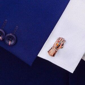 Image 5 - SAVOYSHI الفضة ساحة أزرار أكمام للرجال الفرنسية قميص العلامة التجارية صفعة أزرار عالية الجودة الكفة الروابط التجارية الرجال المجوهرات هدية
