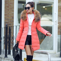 Fashion Long Coat Thin Fur Collar Thick Winter Coats Female Thickening Outerwear For Women SPN8802