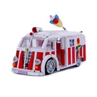 Xingbao 08004 Genuine 1000Pcs Technic Series The Ice Cream Car Set Building Blocks Bricks Educational Toys Compatible LegoINGlys