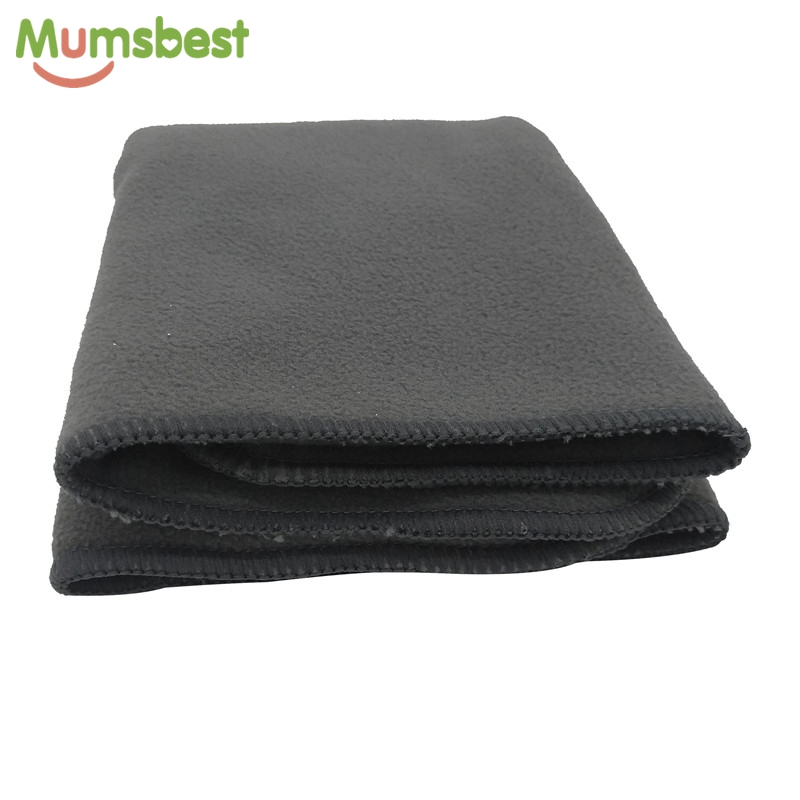 Mumsbest 5Pcs Prefold Inser Charcoal Bamboo Nappy Liner Multi Use Softness Fast Absorbency Baby Prefold