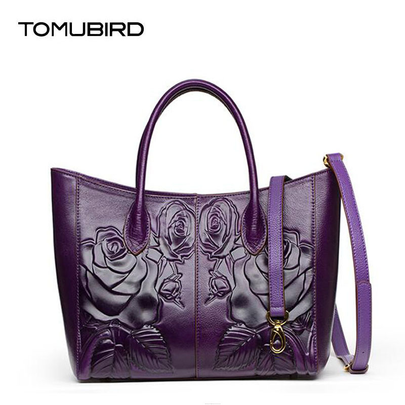 TOMUBIRD new Superior cowhide leather Embossing famous brand women bag fashion genuine leather handbags Tote shoulder bag 2018 new superior cowhide leather classic designer hand embossing top leather tote women handbags genuine leather bag medium bag