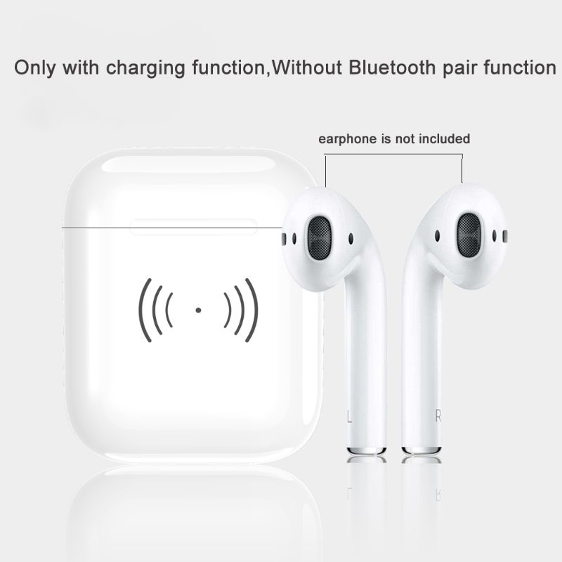 Image 2 - Built in 450mAh Wireless Charging Case Receiver Overload Protection Protective Case For Apple Airpods Bluetooth Headset Accessor-in Earphone Accessories from Consumer Electronics