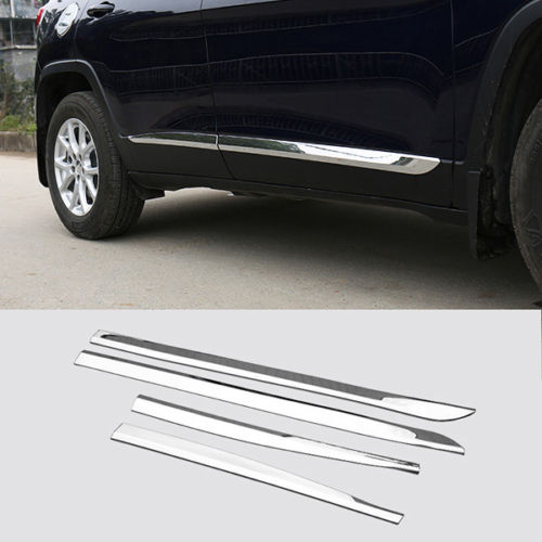 FIT FOR 2014 2015 2016 Jeep CHEROKEE Free light Chrome Door Body Side Molding Line Trim Cover OverlayFIT FOR 2014 2015 2016 Jeep CHEROKEE Free light Chrome Door Body Side Molding Line Trim Cover Overlay