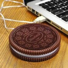 Chaude Cookie USB Alimenté Chauffe-Tasse/Bureau Thé Café Chauffe Boisson/Tasse Coaster Mat Coupe Électronique USB Gadgets