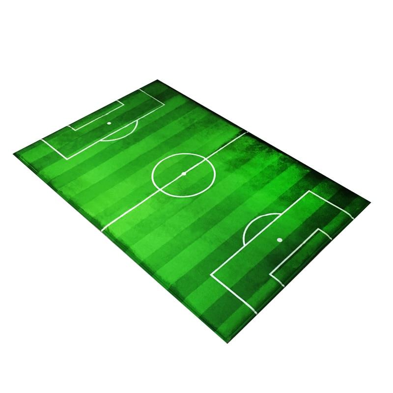 Football Field Doormat Living Room Bedroom Carpets Green