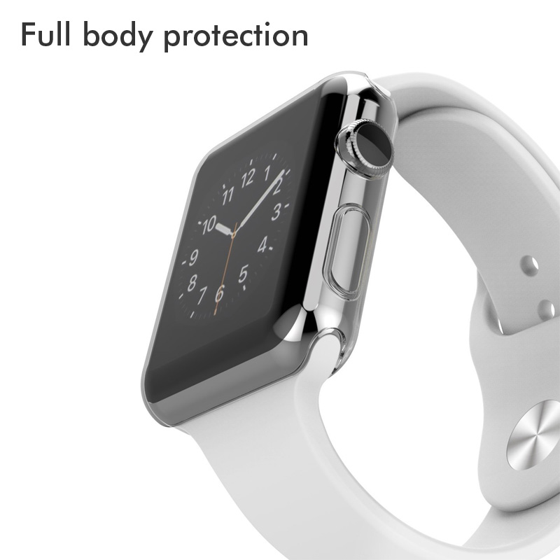 Series3 Transparent protection Case Crystal Clear soft cover for Apple Watch Series 3 2 Full Screen Protector Coque fundas 42mm in Fitted Cases from Cellphones Telecommunications