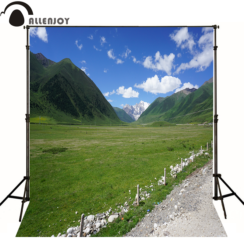 Allenjoy Photographic Background Blue Sky And White Clouds