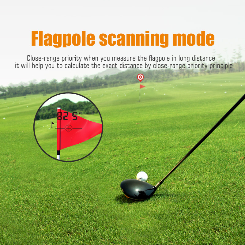 Mileseey 600M Rangefinder with Golf Slope Adjusted Mode and Flagpole Scanning Mode