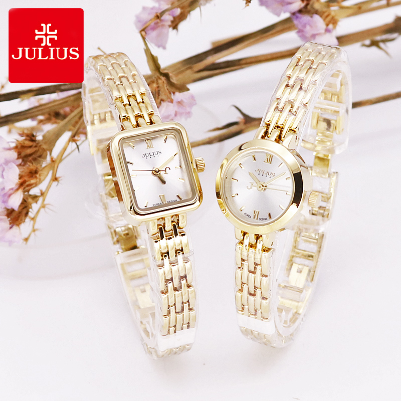 20mm Mini Gold Women's Watch Japan Quartz Hours Fashion Lady Small Clock Bracelet Chain Simple Birthday Girl's Gift Julius Box
