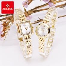 Julius Box reloj Mini dorado de 20mm para mujer, reloj de cuarzo japonés, pulsera pequeña, cadena, regalo de cumpleaños