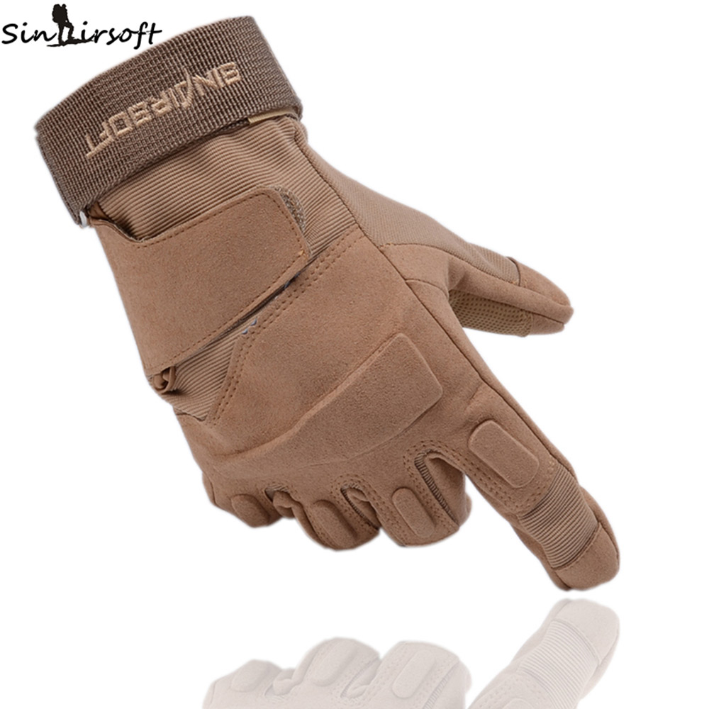 SINAIRSOFT Tactical non-slip riding Full Finger Gloves Army Military Breathable Nylon Airsoft Shooting double Gloves SA7616