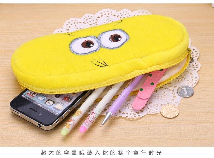 Kawaii Cartoon Pen case Totoro plush Smile Face Emoji Cute Pencil case School Minecraft etui trousse scolaire stylo 04819 34