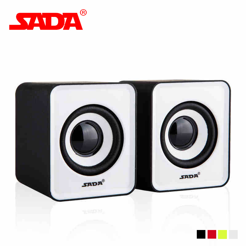 SADA V-168 Mini Subwoofer USB Speaker Music Loudspeaker PC Phone Portable Stereo Bass Speaker for Computer Notebook Laptop Phone