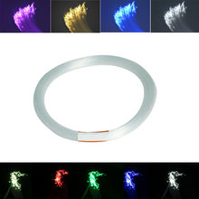 1.5mm 50-100M/roll PMMA plastic end glow fiber optic cable for ceiling star light(China)