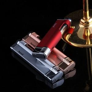 Image 4 - רצועת Jet בוטאן סיגר מצית לפיד טורבו צינור מצית סיגריות 1300 C אש Windproof אין גז