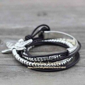 Anslow хит продаж Новинка 2017 Скидка модные ювелирные изделия Drongfly Wire Wrap кожаные браслеты распродажа Прямая поставка подарок LOW0585LB