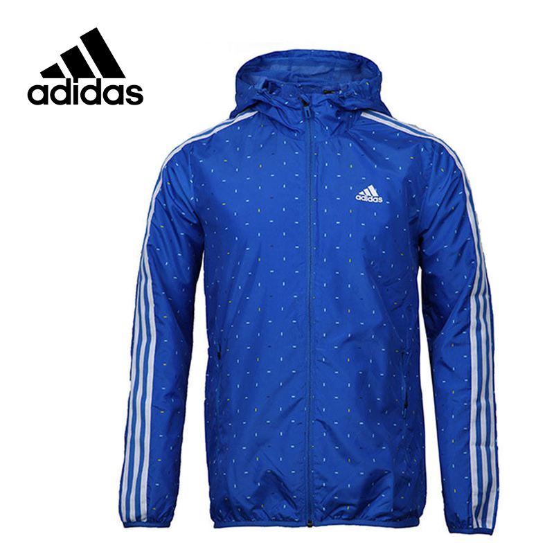 Adidas Original New Arrival Official Men's Windproof Woven Jacket Hooded Sportswear AY3784 цена