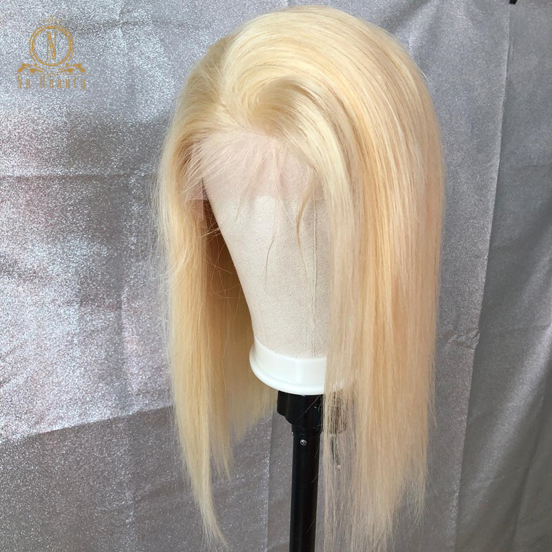 HTB1f.nAPbrpK1RjSZTEq6AWAVXa7 613 Short Bob Wigs 1B 613 Ombre Honey Remy Pre Plucked Straight 13x6 Blonde Lace Front Human Hair Wig for Women Natural Black