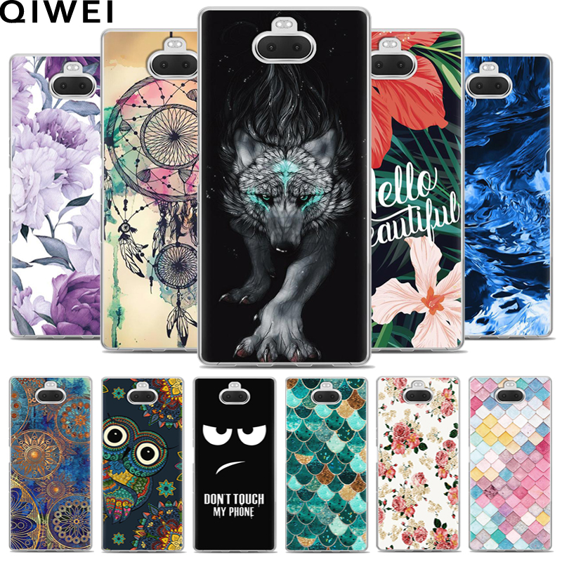 For <font><b>Sony</b></font> Xperia 10 <font><b>Case</b></font> Cover 6.0'' Cartoon Soft Silicone TPU Back <font><b>Cases</b></font> Coque For <font><b>Sony</b></font> Xperia 10 Plus Phone Cover For <font><b>Xperia10</b></font> image