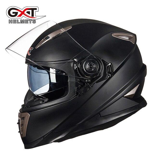 GXT 999 Motorcycle Helmet Double Lens Full Face with Shield Lock System Motorbike helmet Moto Casco