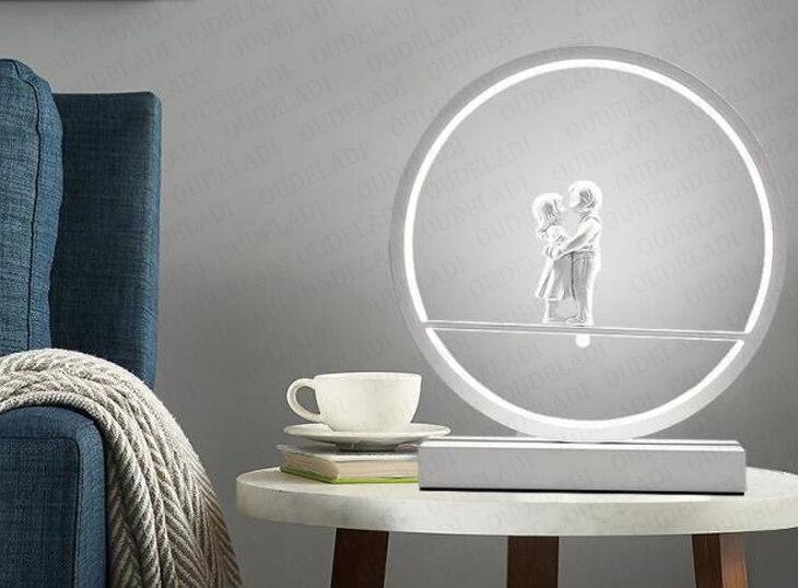 led moderno lâmpada decorativa casal romântico quente