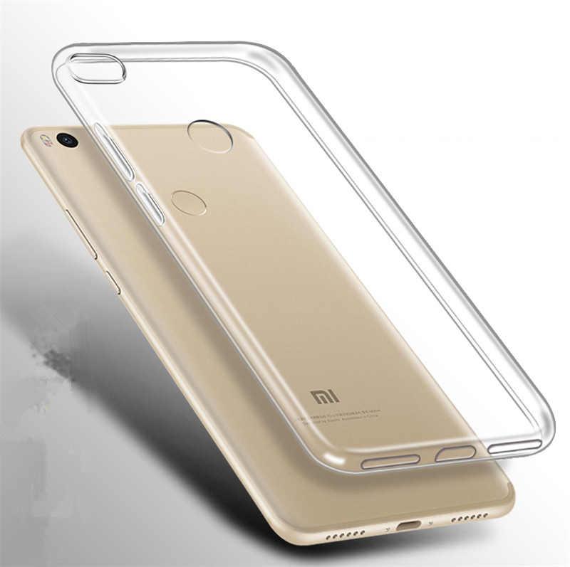 سيليكون حالة ل Xiaomi مي 6X A2 8 لايت مزيج 2S ماكس 3 برو 5S ملاحظة 3 Redmi ملاحظة 5A واضحة الهاتف المحمول حقيبة حامي مزودة حالة