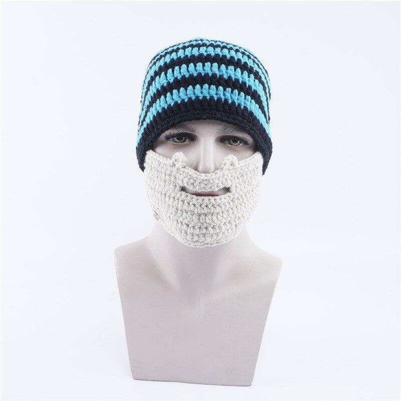 Novedad sombrero de lana caliente gorros ocasionales hombres barba ...