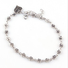 Flower Charms Women's Anklet