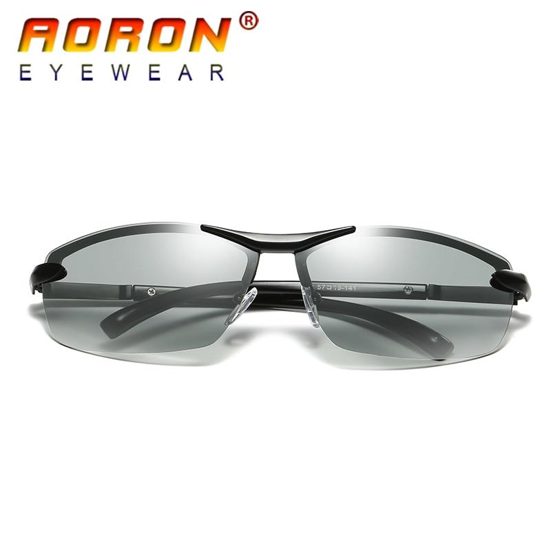 AORON Brand Photochromic Polarized Sunglasses Men Driving Anti Glare Goggles HD discolour Lens Sun Glasses Eyeglasses