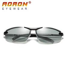 Бренд Aoron фотохромные поляризованные Солнцезащитные очки Для мужчин Вождение с антибликовым покрытием очки HD обесцветить объектив Защита от солнца Очки очки