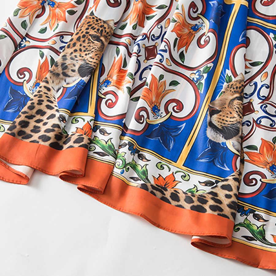 Aeleseen 빈티지 불규칙 드레스 인쇄 2018 가을 패션 한 어깨 벨트 도자기 동물 xxl 인쇄 느슨한 긴 맥시 드레스