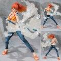 2017 anime japonés figuras de one piece figuras de acción 14 cm hot toys pvc nami figura de la historieta del cabrito brinquedo regalo envío gratis