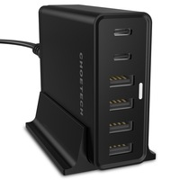CHOETECH 6 Ports 55W Multi 4 USB 2 Type C USB Plug Power Adapter Charging With