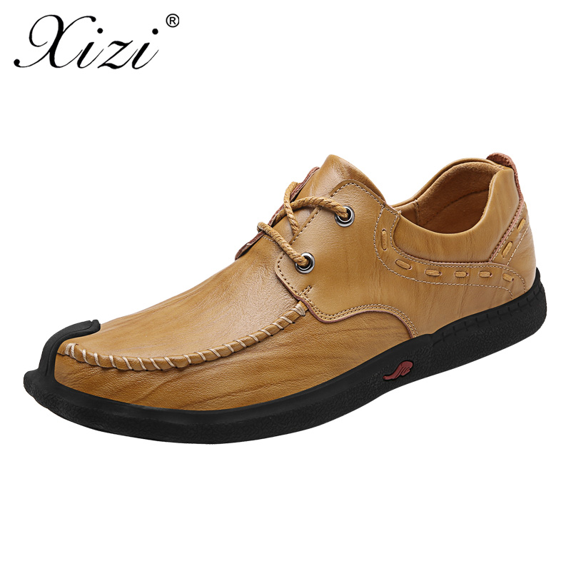 XIZI Brand Mens Handmade Leather Casual Shoes Male Fashion boat shoes Exquisite design Lace-Up Comfortable krasovki Men oxford мельничук в дневничок здоровячок раб тетр по валеологии 2 кл