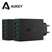 AUKEY Travel Charger Universal USB 4 Ports Wall charger Adapter For iPhone Samsung Phones Other Smart Phones and Mobile Devices