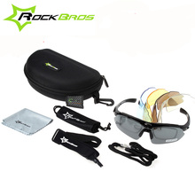 RockBros Polarized 5 Lenses Cycling Glasses with Myopia Frame Bike Eyewear Bicycle Sunglasses