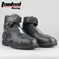 2019 Tanked Raing Moto Racing boot Professional motorcycle shoes Short Motorcycle boots Anti dropping abrasion resistant T75090