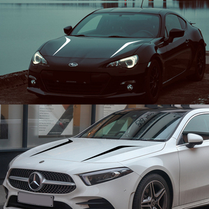 Image 3 - 2pcs 100cmx26cm Hood Cover Car Stickers Auto Vinyl Film Long Stripe Decals DIY Car Sport Styling Stickers Car Tuning Accessories