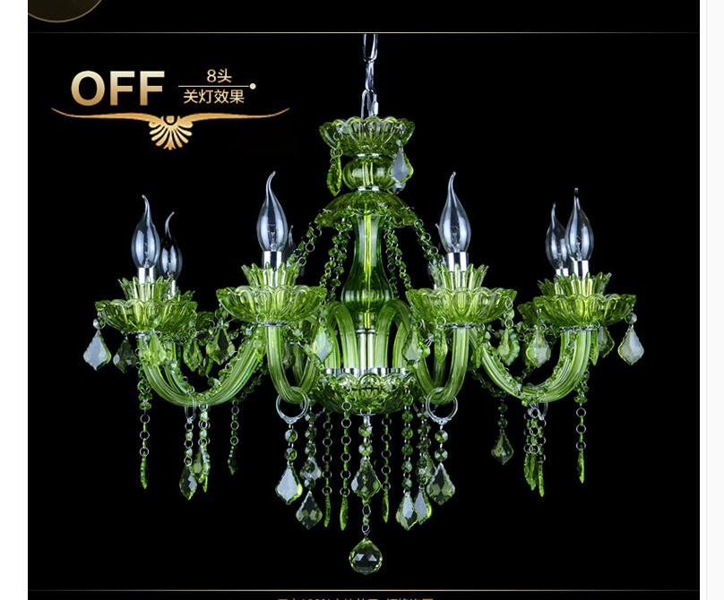 Modern Chandelier Green Crystal Lighting E14 Ac 90 260v Shadeless Re Led Lamp Lampadario Luminaria Free Shipping In Chandeliers From Lights