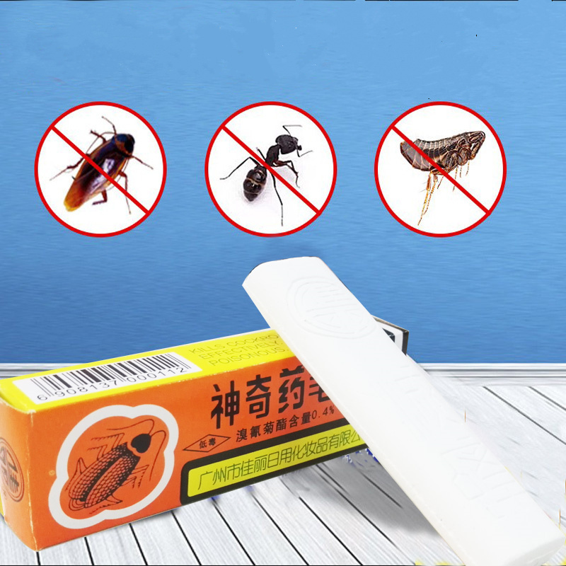 5pcs! Effective Miraculous Insecticide Chalk Cockroach Poison Killer Bug Flea Cucaracha Ant Roaches For Pest Control Bait Powder