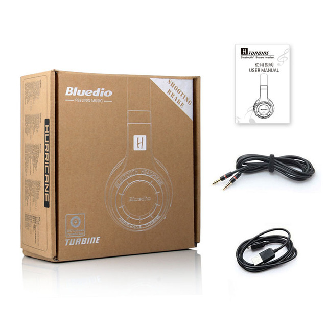 100% Original Bluedio H Plus Hurricane Bluetooth 4.1 Wireless Stereo Bass Headphones Headset Mic FM Radio for iPhone 5 5S 6