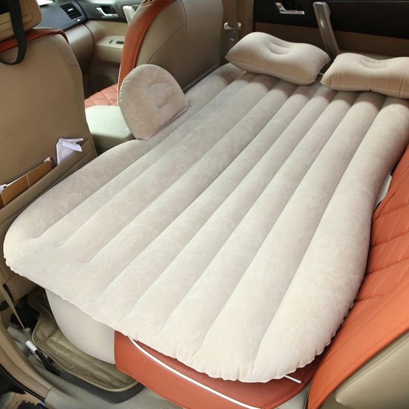 auto inflate air mattress ツ)_/¯Hot sale Car Back Beige Seat Cover Car Air Mattress Travel  auto inflate air mattress
