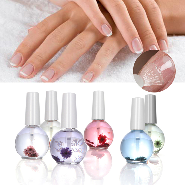 1pc New Dry Flower Nourishment Oil Nail Cuticle Professional Tools Nutrition Polish For