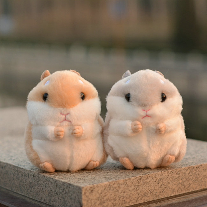 Cute Toys Simulation  Hamster  Plush Doll Toy Fridge Magnet Baby Dolls Gifts