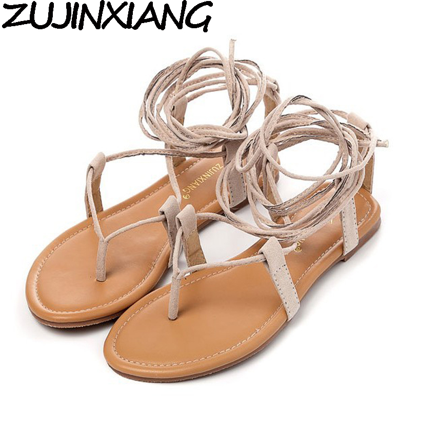 apricot brown Multiple cross strap tall knee high summer roman sandals bondage thong nubuck suede leather flip flops faux leather cross strap sandals