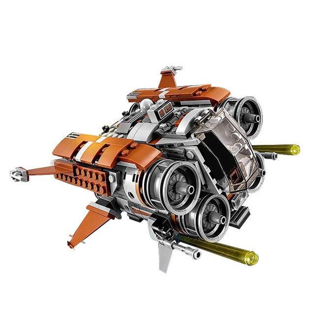 482Pcs Genuine War Series The Jakku Quadjumper Set Children Educational Compatible legoingly starwars Building Blocks Model Toys