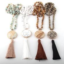 Fashion Bohemian Jewelry Semi Precious Stones Long Knotted Matching St