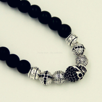 Hot Sale Necklace Black Obsidian Bead For Women And Men Classic Gift Fashion Style Rebel At