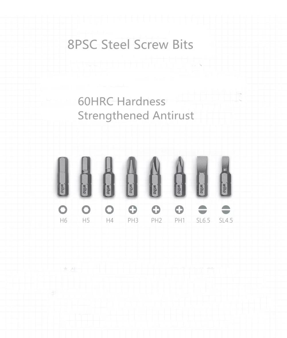 Xiaomi mijia Screwdriver Kit 8 in 1 Precision Magnetic Bits with Extension Rod Alluminum Box DIY Screw Driver Set Repair Tools (1)